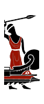 Střelecká triéra - Pomocní numidijští oštěpaři