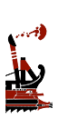 罗马式载砲五桡舰 - 罗马船载投石机