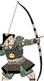 Ashigaru Oda con arco