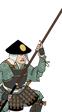Ashigaru con omi yari Oda