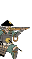 Ashigaru Oda con moschetti a miccia