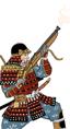 Samurai con moschetti a miccia