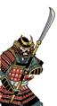 Samurai con naginata
