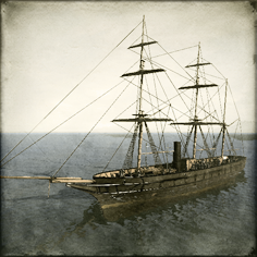 Copper plated Corvette - Kanrin Maru class