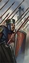 Ополченцы с копьями (щиты)