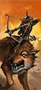 Grabiący grasanci Mogrubba (goblińscy łucznicy na wilkach)