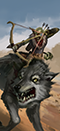 Goblińscy łucznicy na wilkach