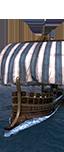 Kriegs-Liburne mit Turm - Auserwählte slawische Schiffer