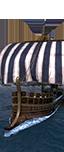 Towered Liburnian Warship - Chosen Germanic Boatmen