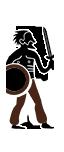 Spadaccini con scudo rotondo