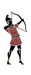 Einheimische iapygische Bogenschützen