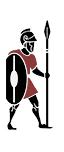 Einheimische etruskische Speerkämpfer
