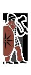 Guerrieri con ascia nabatei