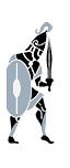 Spadaccini con scudo d'argento
