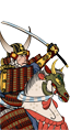 Kijomasova kavalerie s katanami