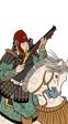 Artilleros montados Tokugawa