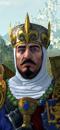 König Louen Leoncoeur (Schlachtross mit Rossharnisch)