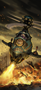 Żyrokopter z działem siarkowym